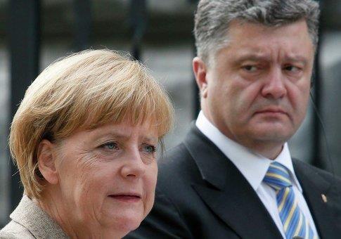 Как Порошенко и Меркель разошлись по углам