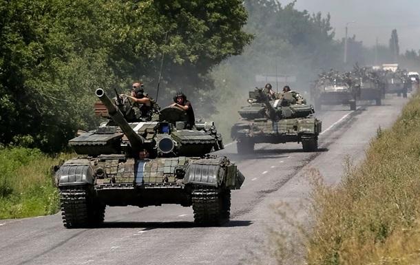 Силы АТО нанесли удар по колонне сепаратистов – пресс-центр