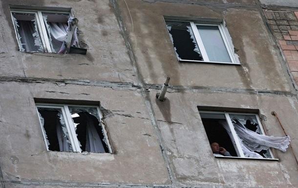 В результате обстрелов пострадала восточная часть Луганска