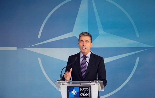 Расмуссен: Вопрос о вступлении Украины в НАТО обсудят после парламентских выборов
