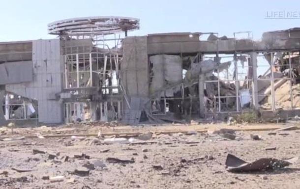 Обнародовано видео разрушенного луганского аэропорта