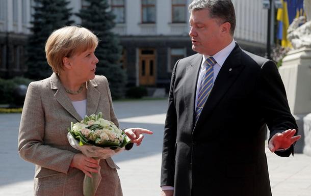 Порошенко и Меркель обсудили план прекращения огня на Донбассе