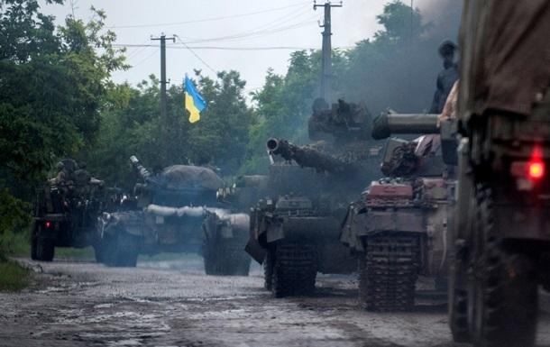Силы АТО уничтожили колонну бронетехники возле Новоазовска - Нацгвардия