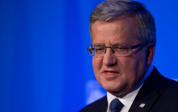 Президент Польши призвал Запад действовать решительнее в отношении России