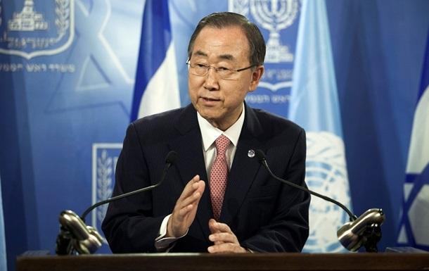 Пан Ги Мун обсуждает с мировыми лидерами поддержку Украины