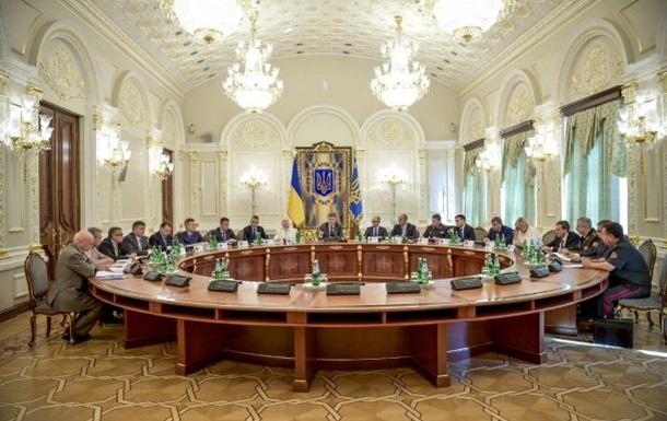 В Администрации Порошенко проходит заседание СНБО