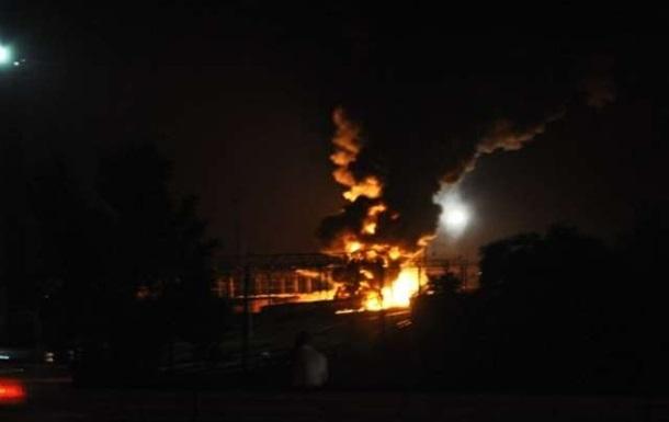 В Харькове горели цистерны с реактивным топливом
