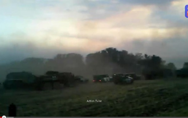 В сети появилось видео прорыва силовиков из иловайского котла