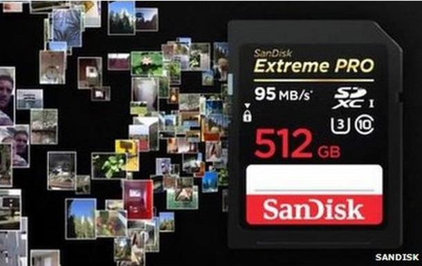 SanDisk создала самую большую карту памяти
