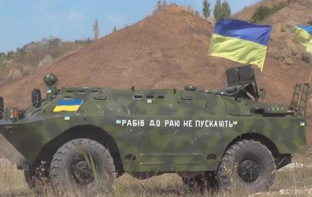 Бойцы Правого сектора показали, как испытывают бронетехнику