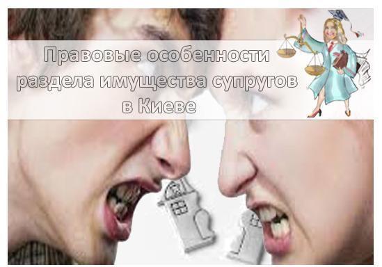 Особенности раздела имущества супругов в Киеве