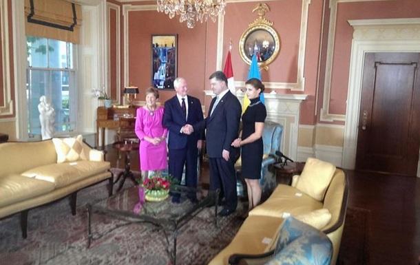 Порошенко в Оттаве провел встречу с генерал-губернатором Канады