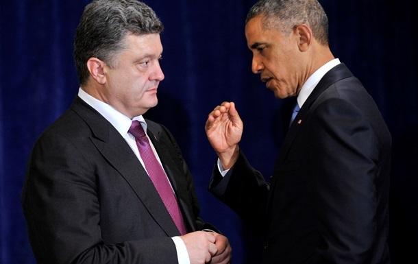 Обама призовет Порошенко к мирной стабилизации ситуации на Донбассе
