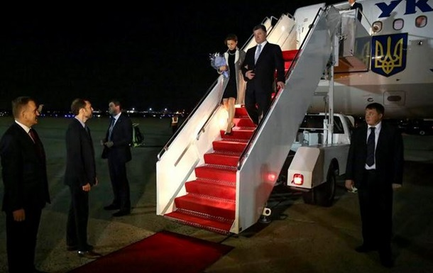 Порошенко с женой впервые прибыл с визитом в США