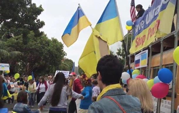 Руслана выступила на антивоенной акции под консульством РФ в США