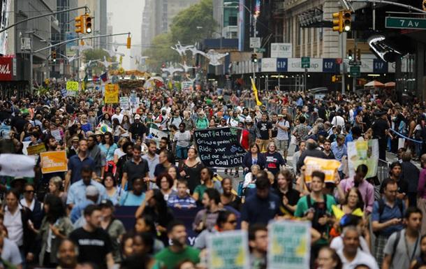 В Нью-Йорке задержаны манифестанты, протестующие за защиту климата