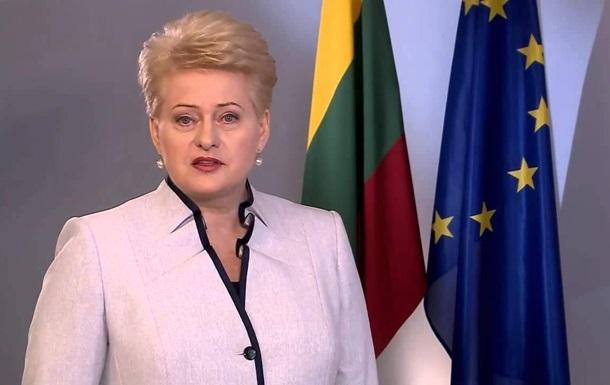 Грибаускайте призвала мир защитить суверенитет Украины от России