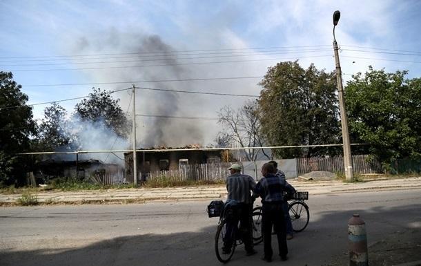 При обстреле Счастья погибла женщина, 16 человек ранены - штаб АТО