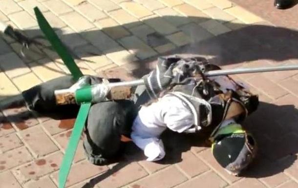 В Кировограде сожгли чучело губернатора