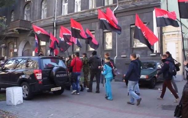 Правый сектор прошел маршем к Центризбиркому