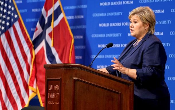 РФ не столь сильна, чтобы нанести тяжелый урон Европе – премьер Норвегии