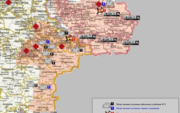 СБУ создала карту массовых захоронений на Донбассе
