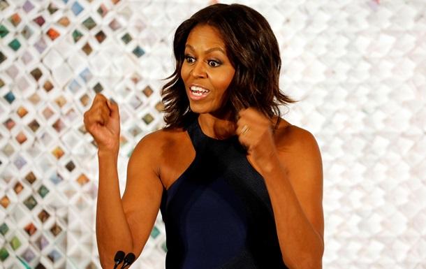 Мишель Обама в платье от украинки прочитала лекцию в Белом доме