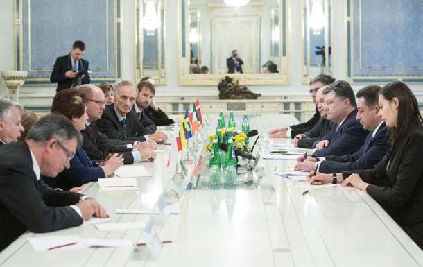 Порошенко встретился с главами европейских парламентов