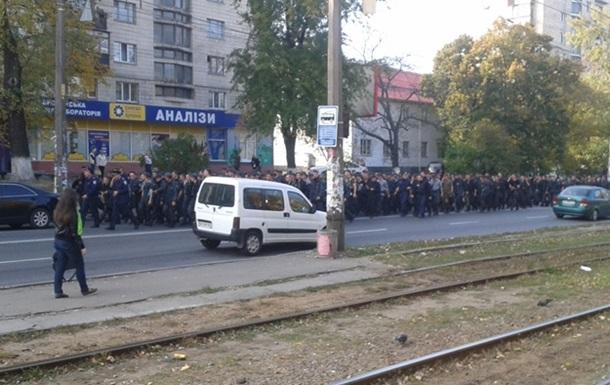 В Киеве протестуют срочники Нацгвардии, в милиции забили тревогу