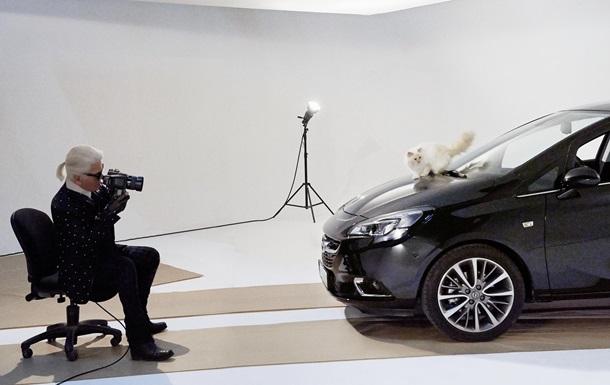 Кошка Карла Лагерфельда снялась в рекламе Opel Corsa