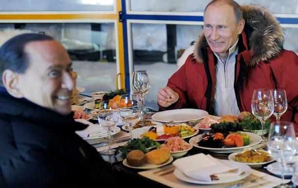 После встречи с Меркель Путин отправился на вечеринку к Берлускони – СМИ