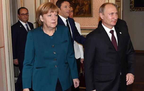 Путин нарисовал украинский газовый вопрос для Меркель