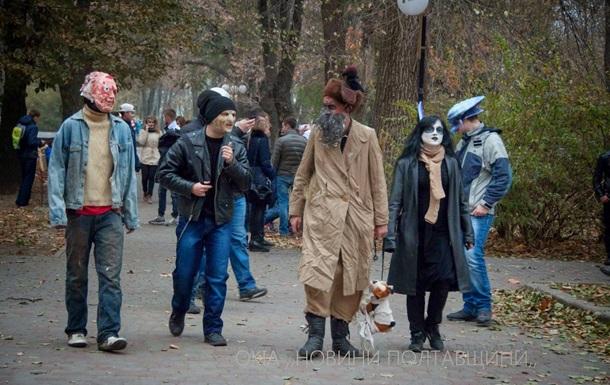 В Полтаве прошел парад зомби