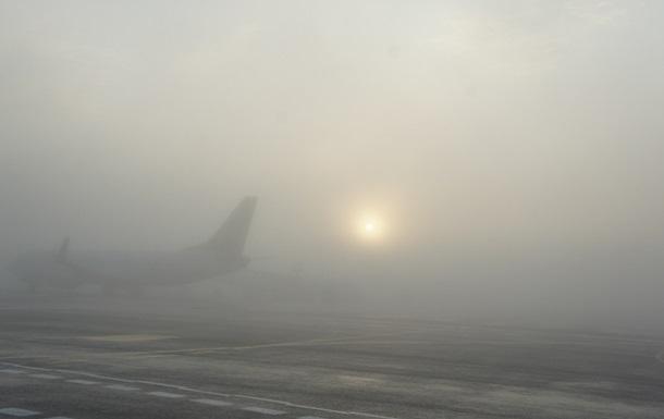 В аэропорту  Киев  задерживаются рейсы из-за тумана