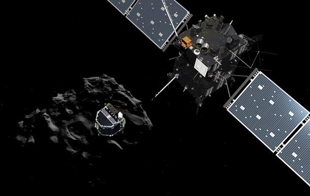 Зонд Philae сделал первый снимок с кометы Чурюмова-Герасименко