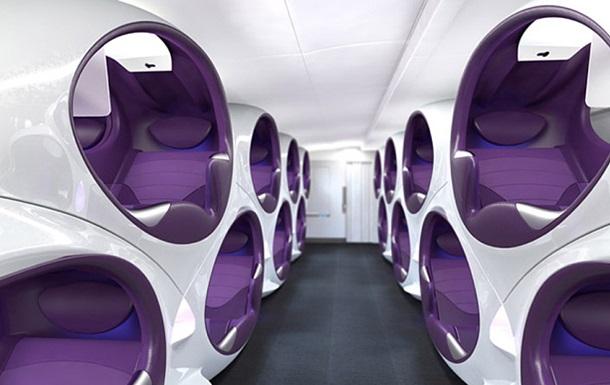 Дизайнерская компания представила проект салона самолета будущего