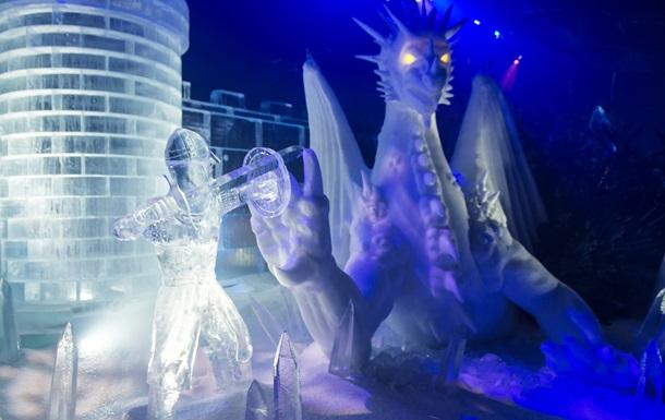 Парк ледяных скульптур в Лондоне