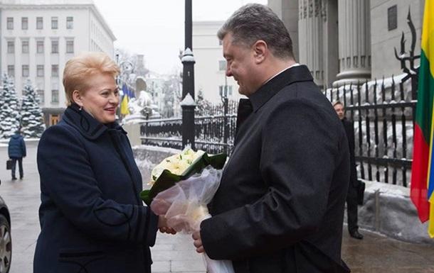 Президент Литвы прибыла в Киев