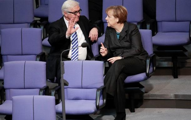 Меркель: Курс в отношении России согласован со Штайнмайером
