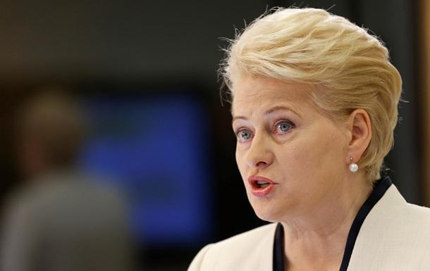 Грибаускайте назвала действия российской таможни вызовом всей Европе