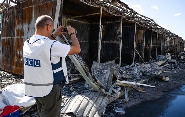 В Донецкой области под обстрел попал патруль ОБСЕ