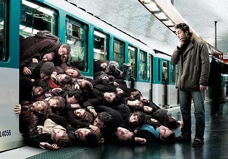 4- в метро, 3 –в трамваї