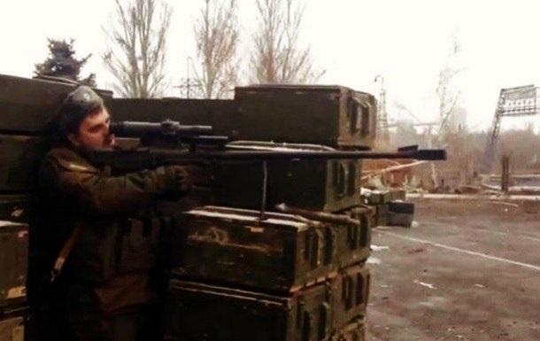 Боевики стреляют из российской винтовки (ВИДЕО)