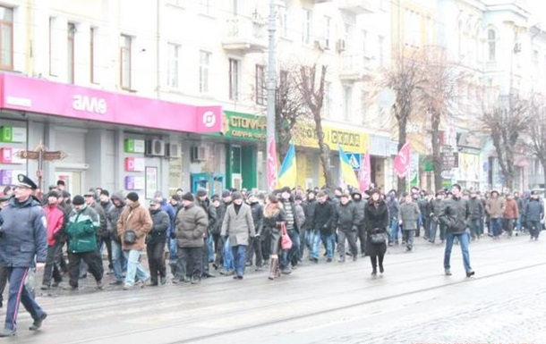 В Виннице прошли маршем против сепаратизма в городе