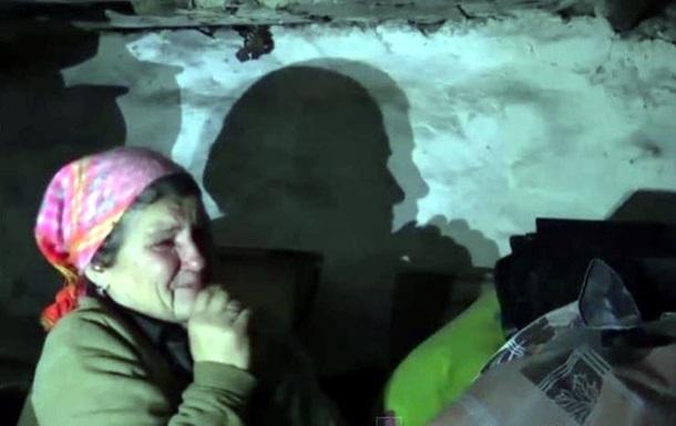 Жители села под Дебальцево месяцами живут в подвалах и без света
