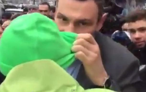 Кличко – протестующему: Я тебе в ухо крикну