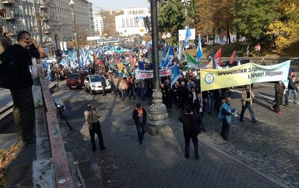 Профсоюзы грозят Яценюку массовыми протестами