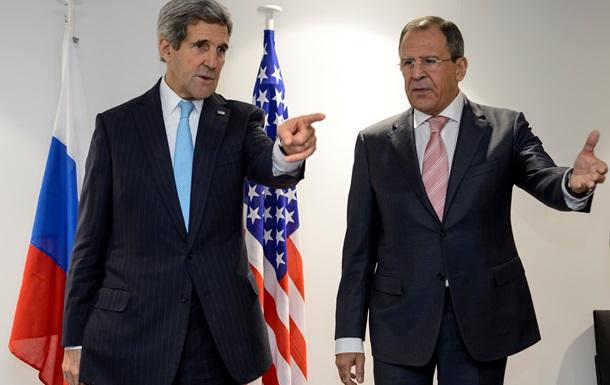 Лавров и Керри обсуждают кризис в Украине и Сирию