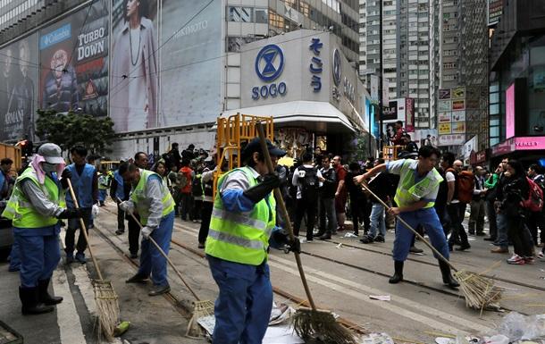 Полиция Гонконга ликвидировала последний лагерь протестующих