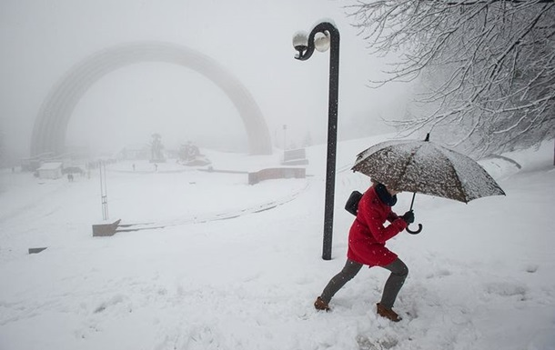 Киевлян ждут морозы и снегопады